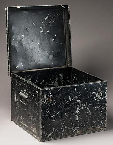 Metal box used by patrol officers in PNG