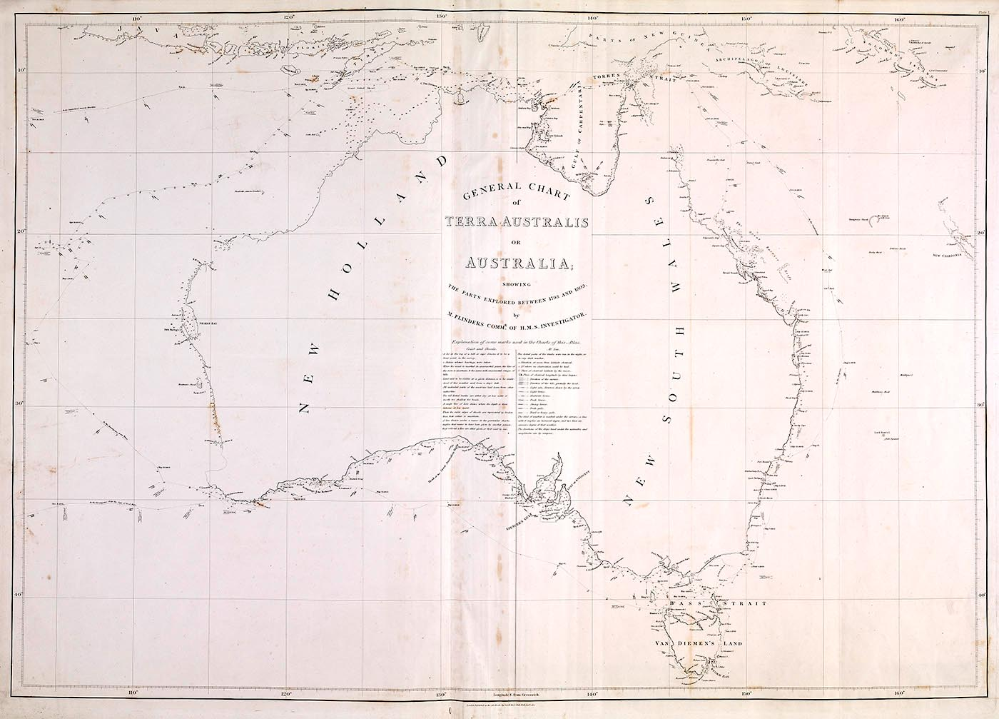 Hand-drawn map of Australia