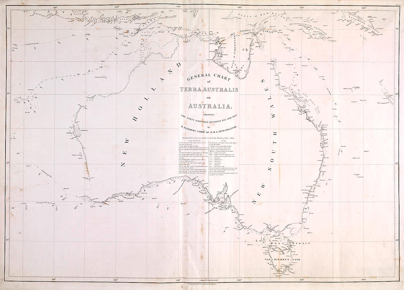 Hand-drawn map of Australia