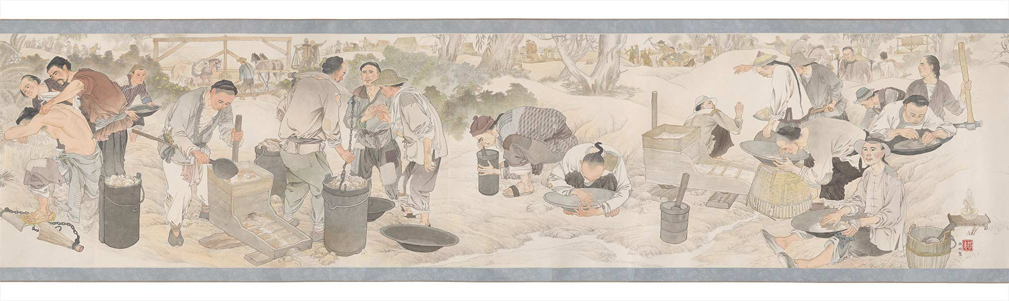 Detail of the Harvest of Endurance scroll. - click to view larger image
