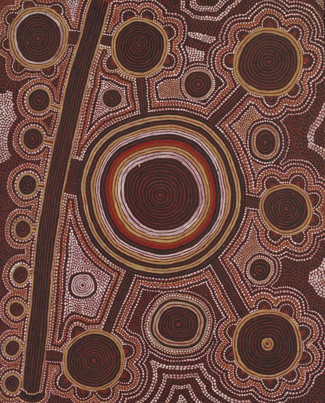 Ngurrapalangu 1974 by Uta Uta (Wuta Wuta) Tjangala. - click to view larger image