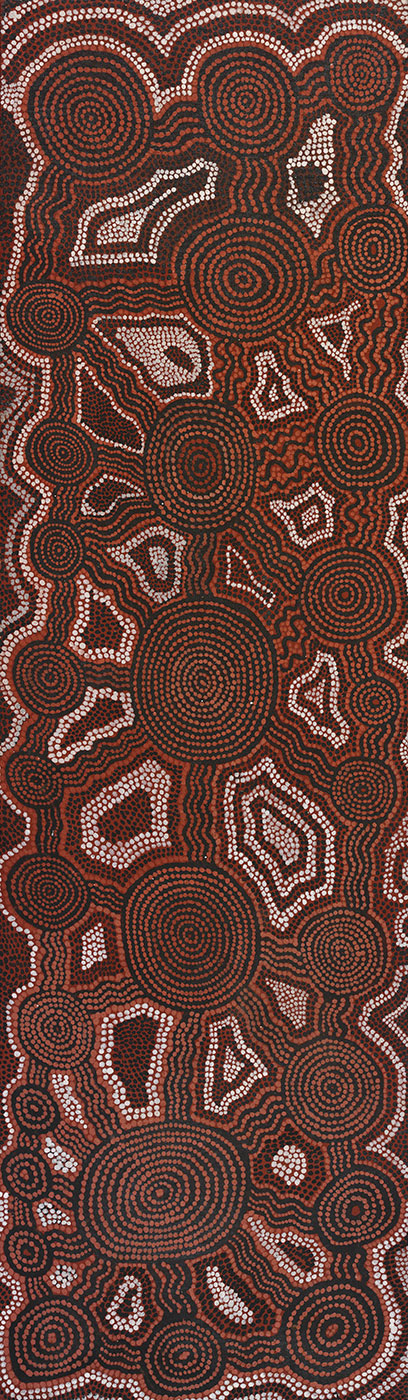 Tingarri Dreaming at Nariboruka (Naripuruka) 1977 by George (Dr George) Tjapaltjarri. - click to view larger image
