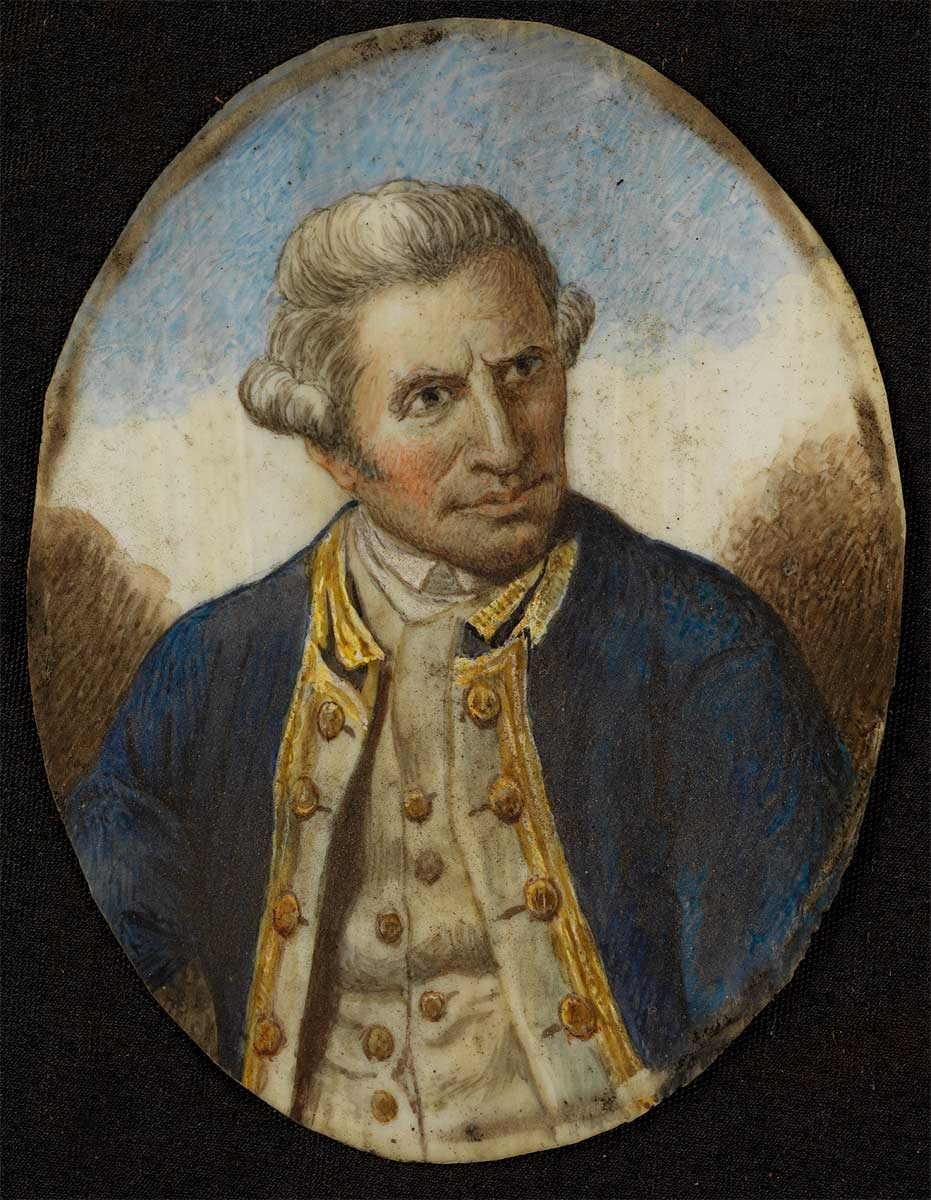Portrait miniature of James Cook - click to view larger image