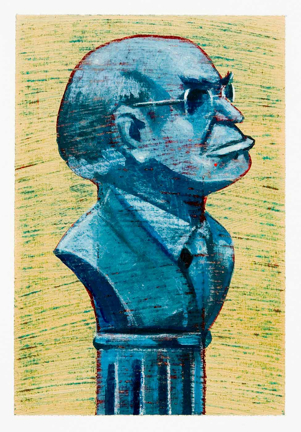 Cartoon of statue of Prime Minister John Howard - click to view larger image
