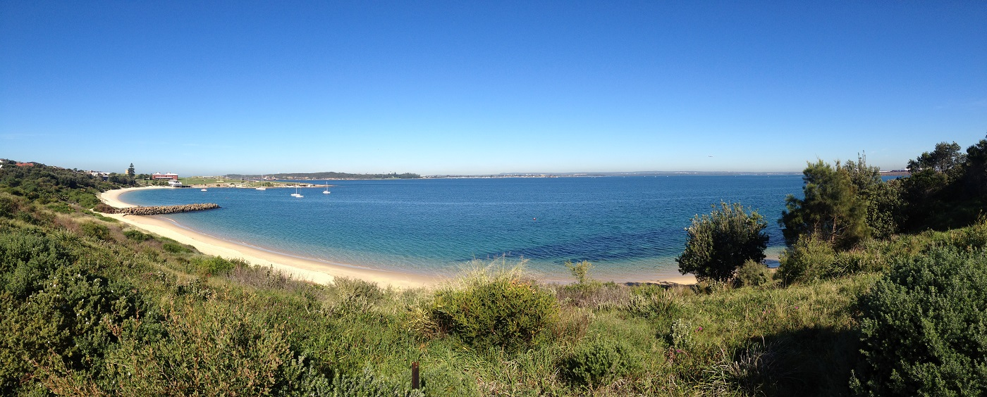 A panoramic view of Botany Bay, New South Wales, Australia.