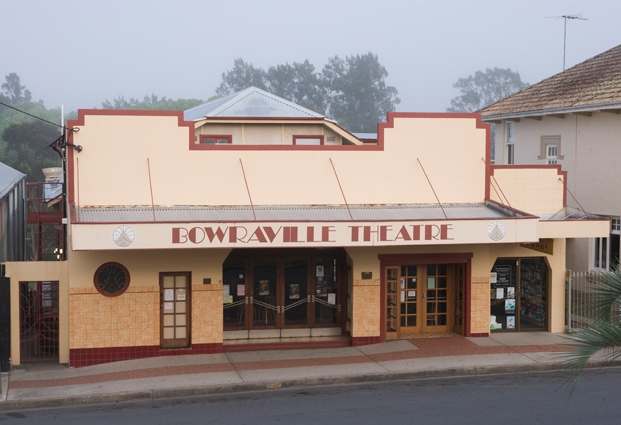 Front facade of Bowraville theatre.