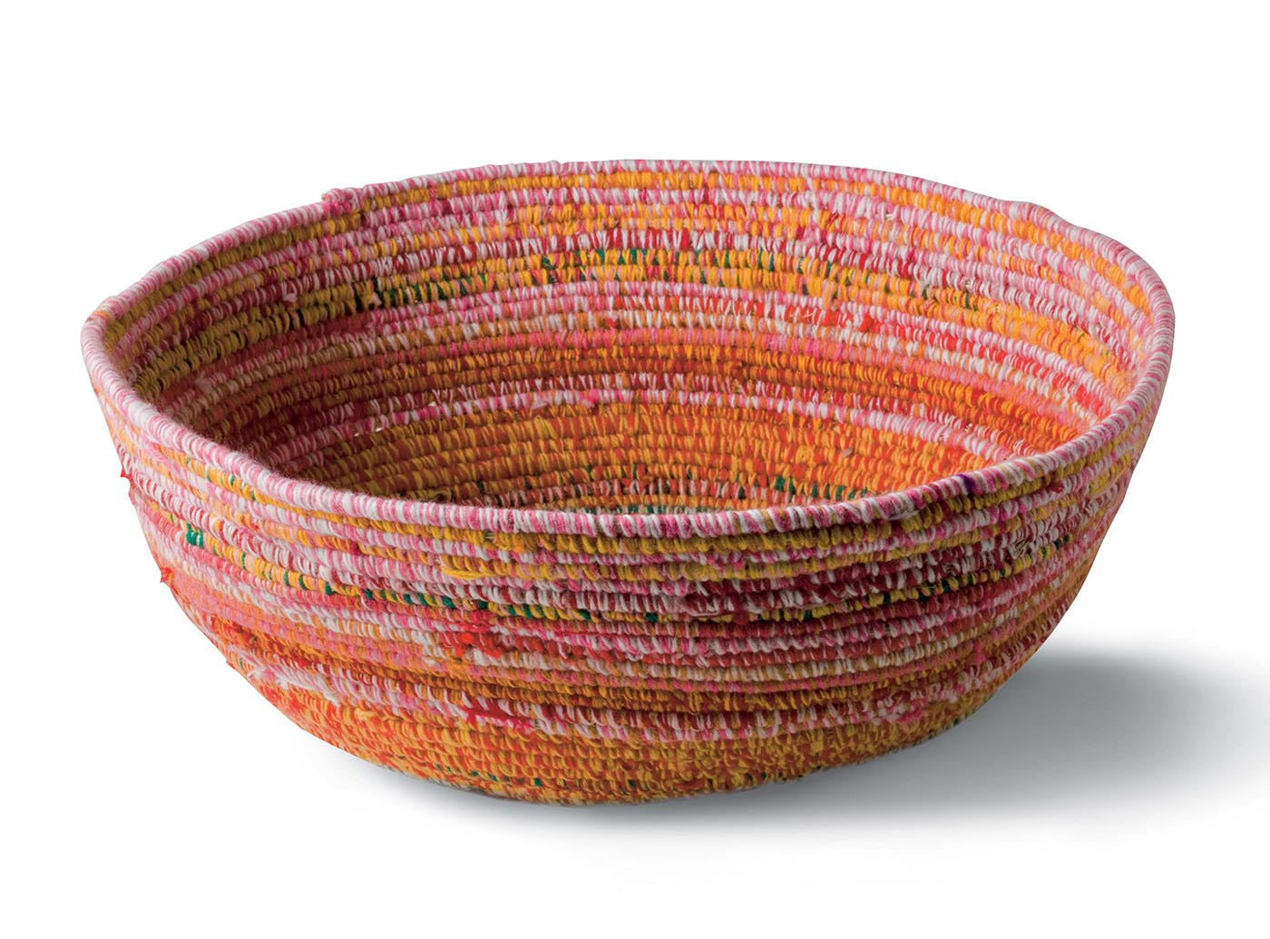 Basket by Ngamaru Bidu, Martumili Artists, 2009. Plant fibre and yarn. - click to view larger image