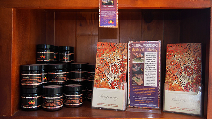 A selection of 'Bush Balm' bush medicine products.