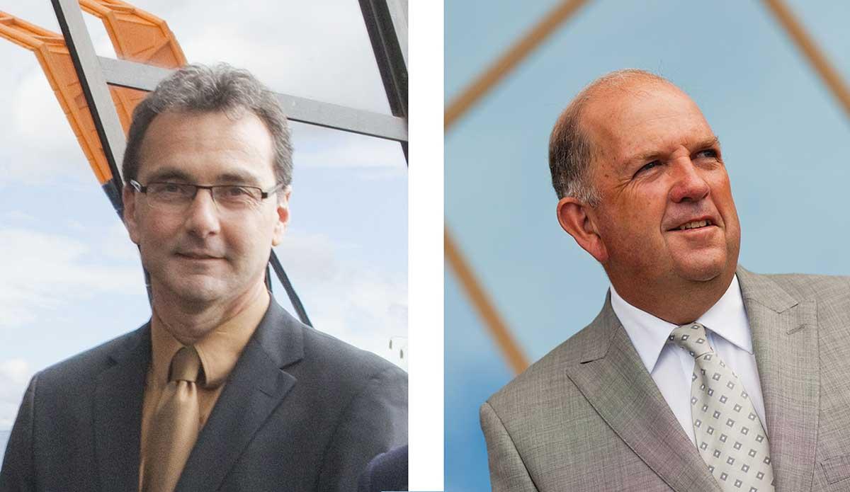 Portraits of Mathew Trinca, left, and Graham Smith, right.