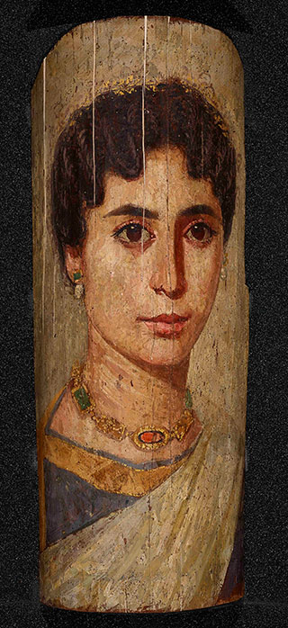 Painting of a woman's head