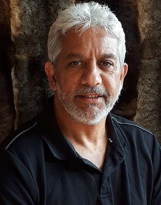 A portrait photo of Wayne Thorpe, Cultural Connections Co-ordinator at GLaWAC, Gunaikurnai Land and Waters Aboriginal Corporation.