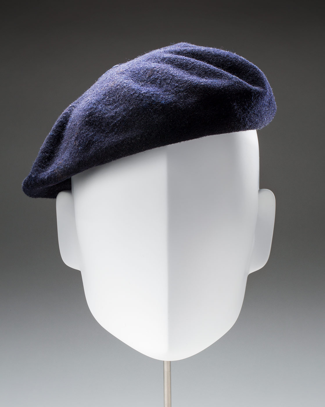 A blue grey beret  - click to view larger image