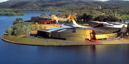 The National Museum of Australia on Acton Peninsula.