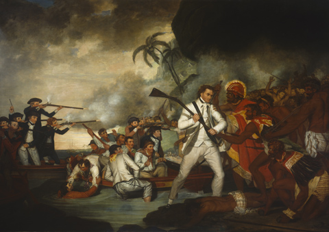 Painting of Cook's death