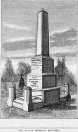 Illustration of a Batman memorial monument.