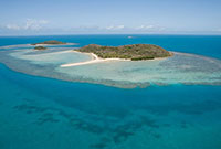 Aerial view of an island in the Torres Strait