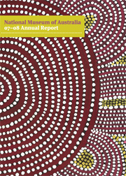Cover of the 2007-2008 National Museum of Australia Annual Report