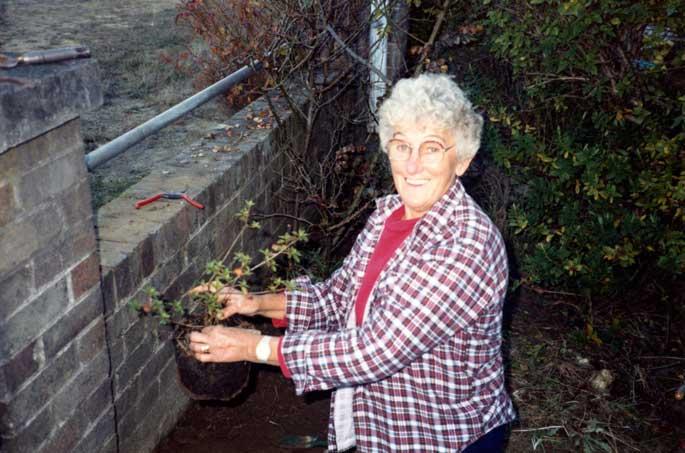 Ivy Lovric gardening