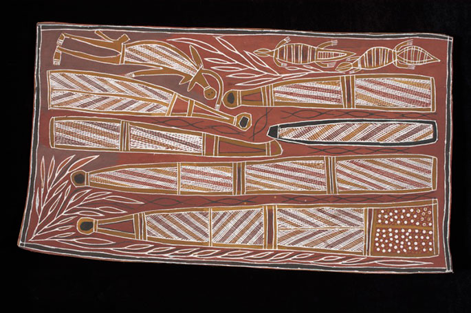 'Yarrpany, Dhuwa Honey' bark painting