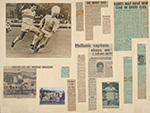 Arrangement of newspaper clippings