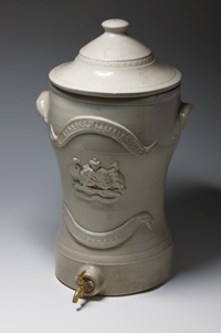 Bendigo Pottery water filter with a tap at the base