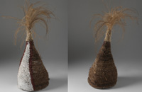 Mornington Island headress front and back view.