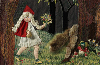 Detail of Little Red Riding Hood wall-hanging