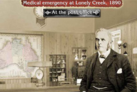 A screenshot image of the Emergency at Lonely Creek interactive.