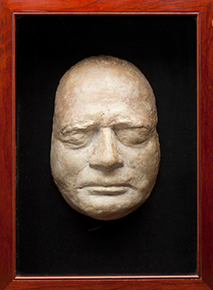 Death mask of the Reverend Robert Knopwood, 1838.