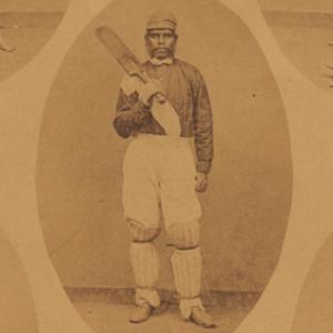 A photo of an Aboriginal cricketer.