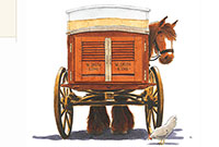 An illustration from 'Horace the Baker's cart