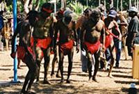 Group of Indigenous Australian men