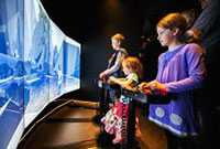 Children playing interactive game