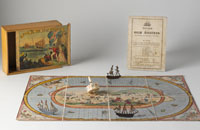 Detail of 'Race to the Gold Diggings of Australia' board game