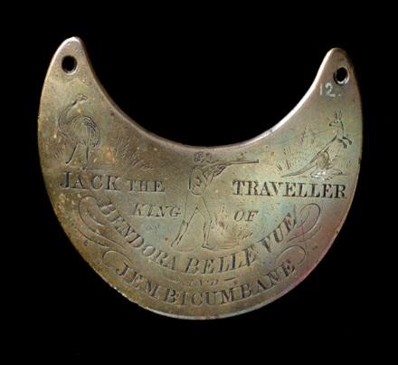 Aboriginal breastplate 'Jack the traveller, King of Bendora Belle Vue and Jembicumbane'