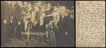 Official photograph of Huschke and Ross after they came 4th in the Berlin 6 Day 1922
