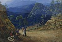 Victoria Pass, Blue Mountains by Eliza Thurston, 1861