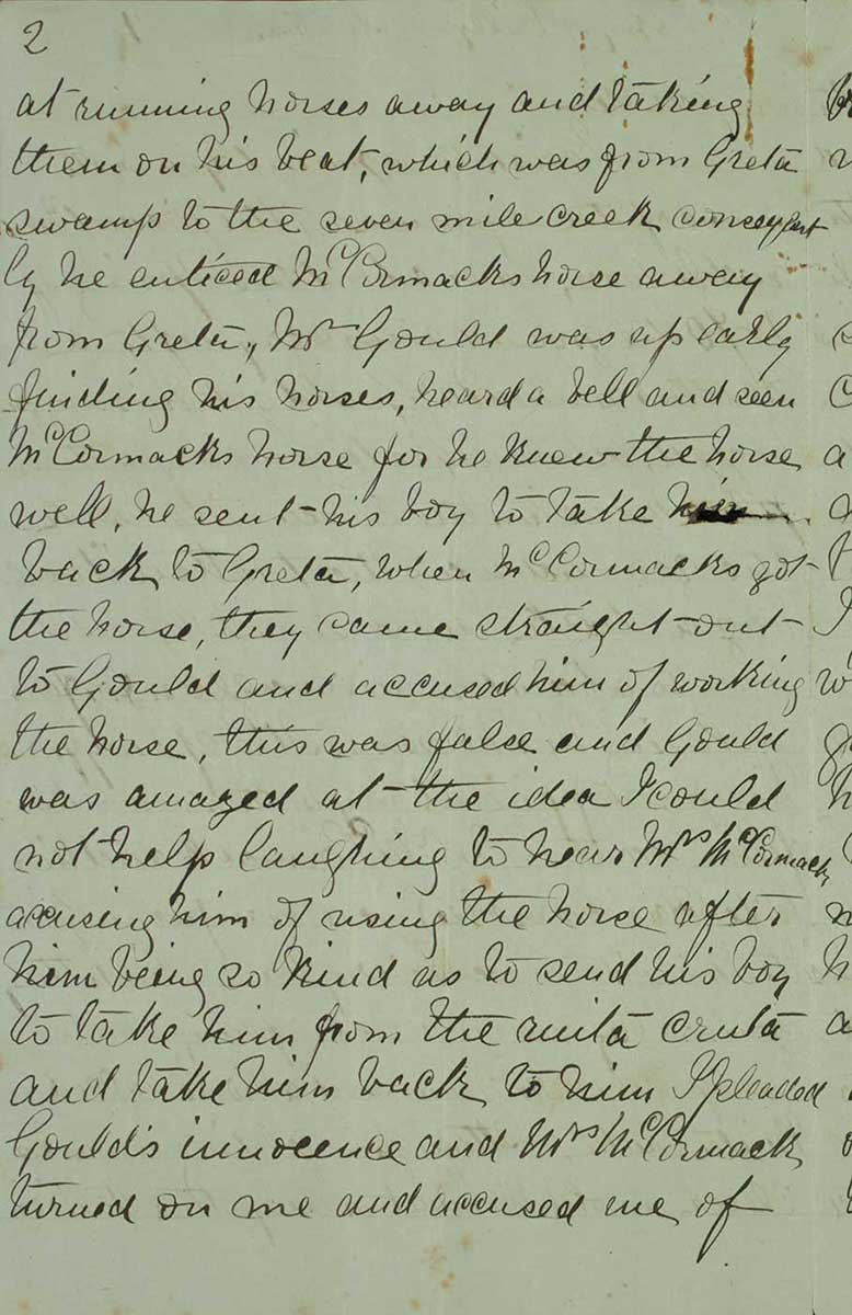 Page two of Ned Kelly's Jerilderie letter. - click to view larger image
