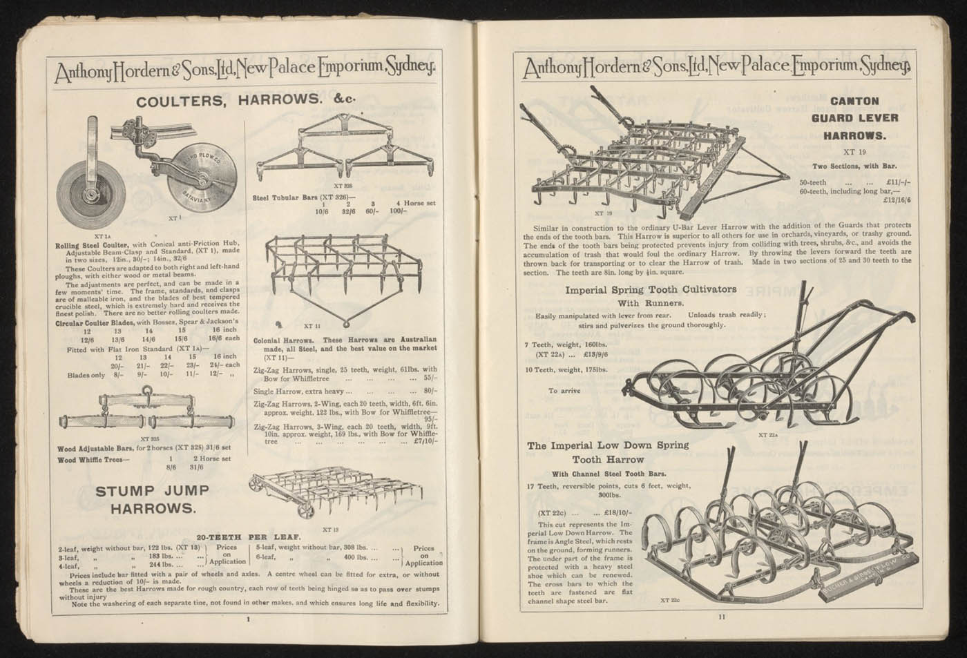 Anthony Hordern's store catalogue, 1923, pages 10 and 11 - click to view larger image