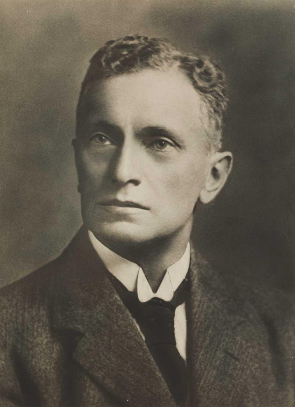 Studio portrait of Herbert Basedow.