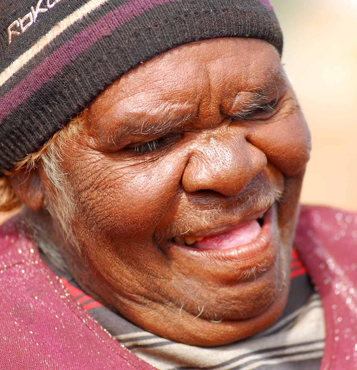 Portrait of Katapi Pulpurru Davies. - click to view larger image