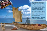 A screenshot image of the Saibai Island canoe.