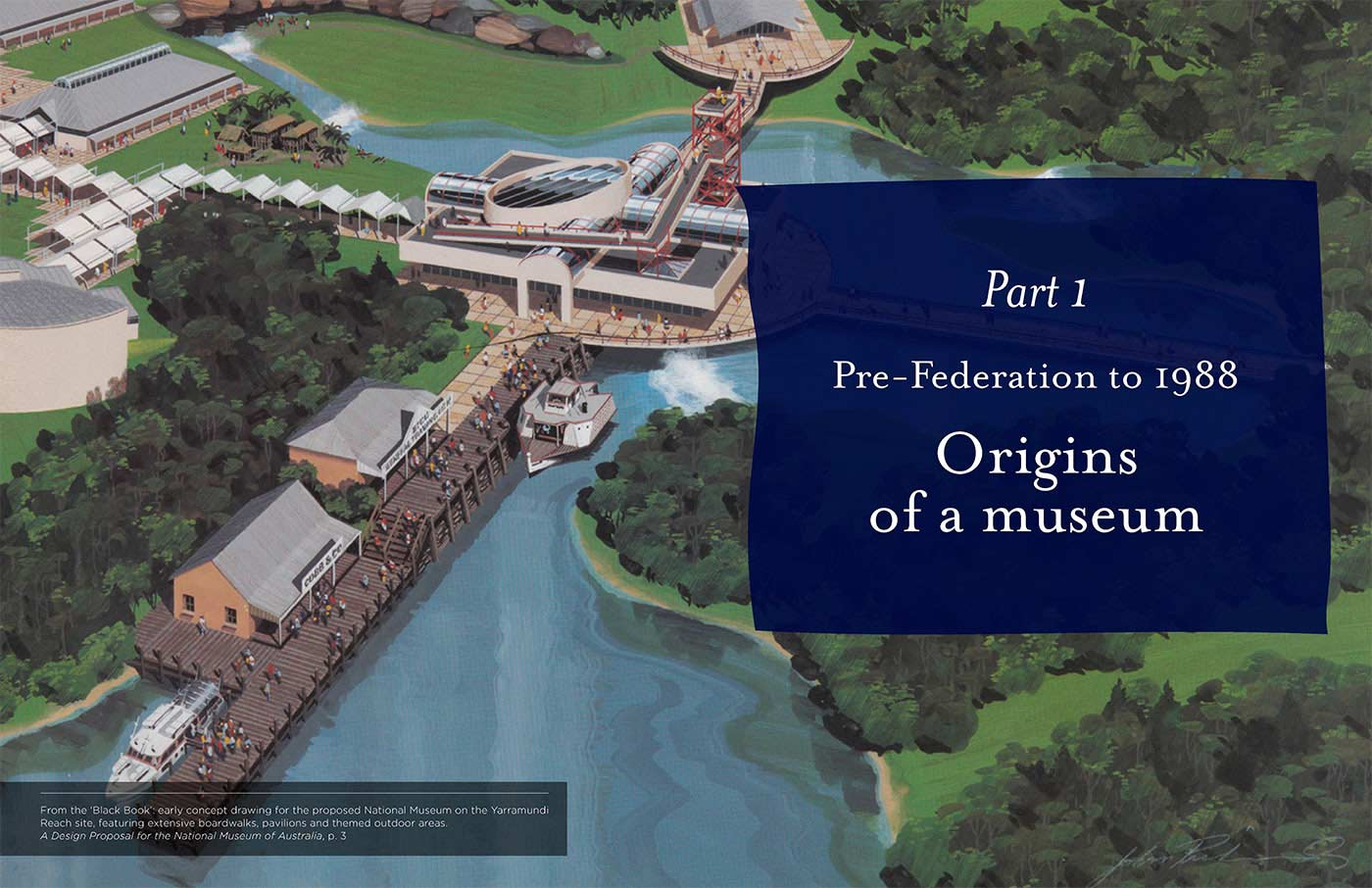 Screenshot of Part 1 of the book: Origins of a museum. - click to view larger image