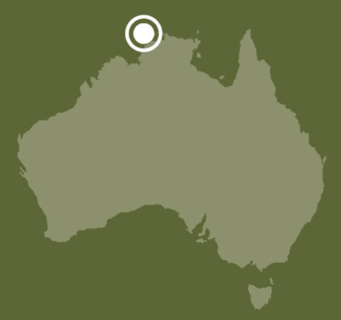 Map of Australia showing location of Bathurst and Melville islands, Northern Territory.