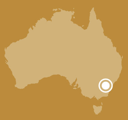 A map of Australia indicating the location of Canberra in the Australian Capital Territory .