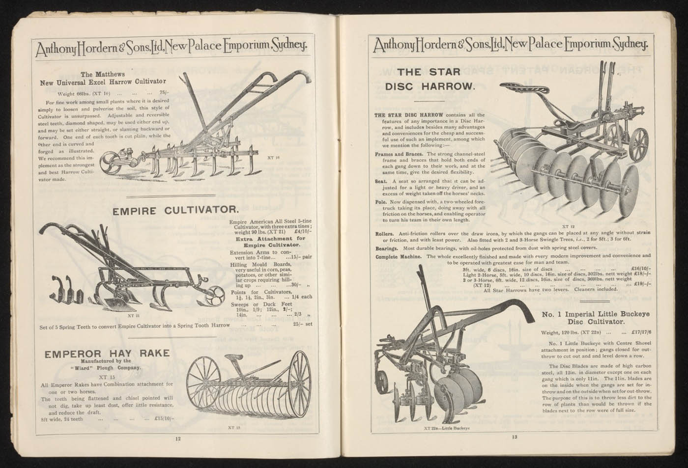 Anthony Hordern's store catalogue, 1923, pages 12 and 13 - click to view larger image
