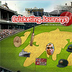 Detail from the Cricketing Journeys interactive