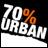 70% Urban