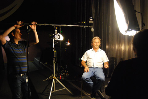 Curator Leah Bartsch interviews John.
