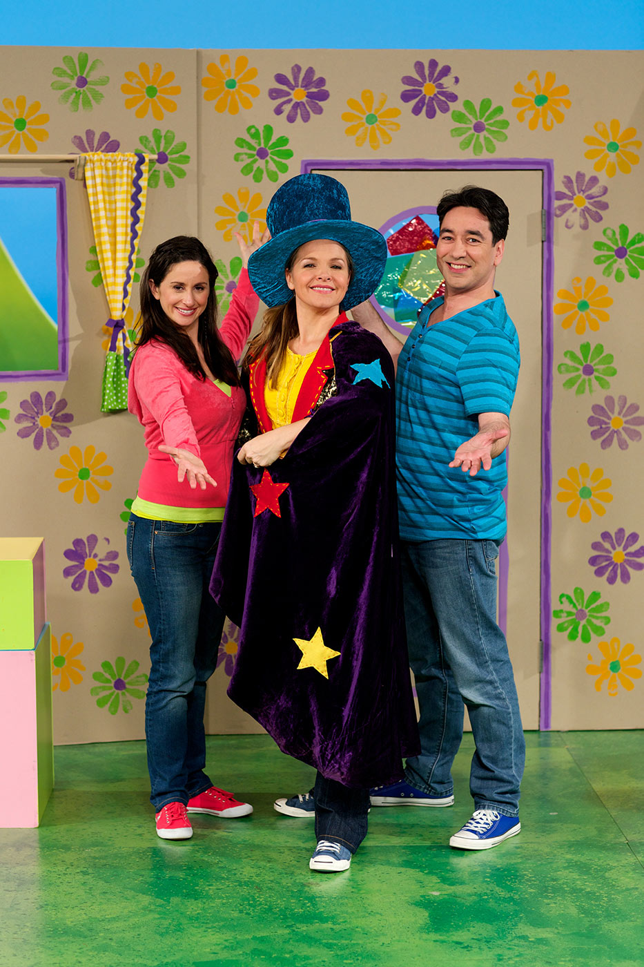 Emma Palmer, Justine Clarke and Alex Papps - click to view larger image